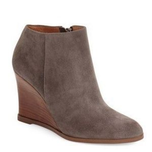 "Halogen > ""Selbi"" Almond Toe Wedge Boots"